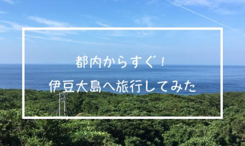 都内からすぐ!伊豆大島へ旅行してみた