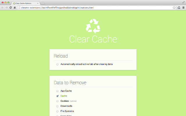 clearCache