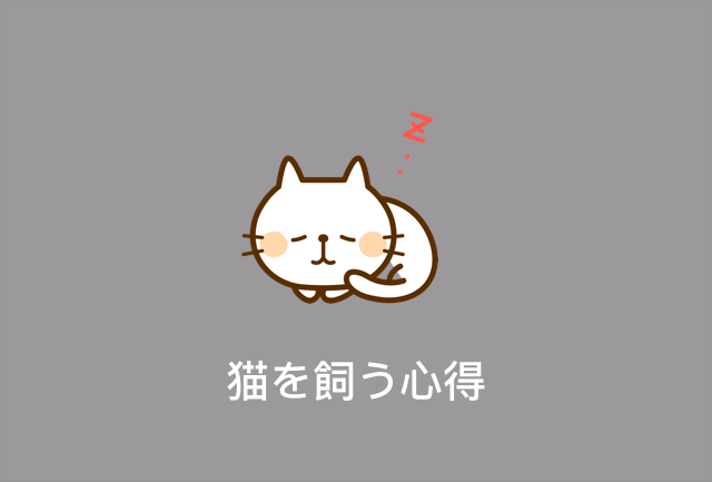 猫を飼う心得
